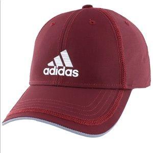 adidas burgundy baseball cap unisex NEW